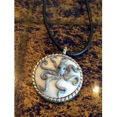 Gray Octupus necklace