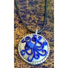 Blue Octupus necklace